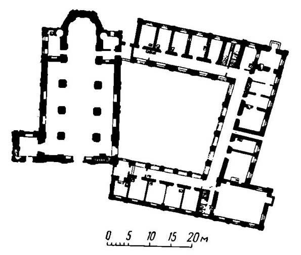 План Францисканского костела и кляштора