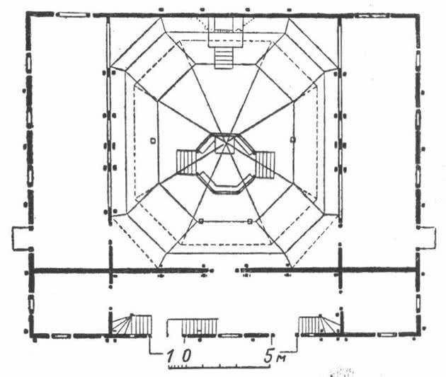 План деревянной синагоги