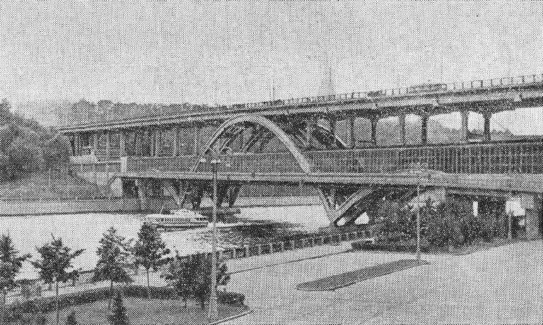 Станция «Ленинские горы», метромост