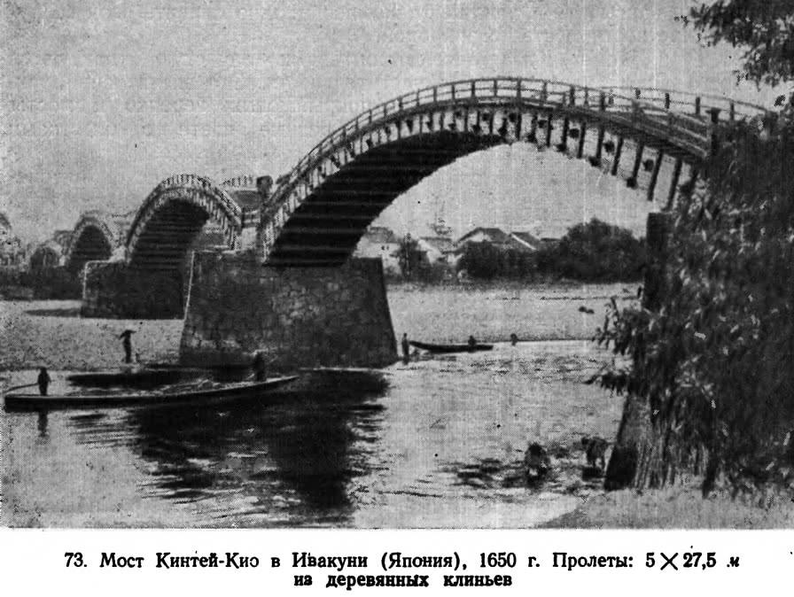 73. Мост Кинтей-Кио в Ивакуни (Япония), 1650 г.