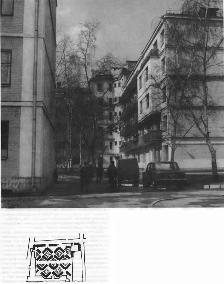 Шаболовский жилой массив. План, жилые корпуса