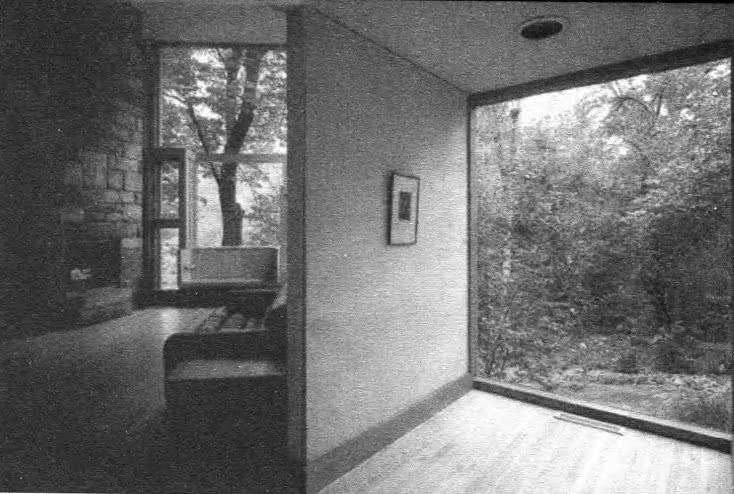 Дом семьи Фишер. Интерьер. Пенсильвания США. Л. Кан, 1967