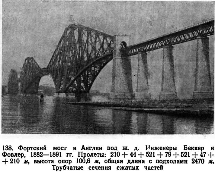 138. Фортский мост в Англии под ж. д.