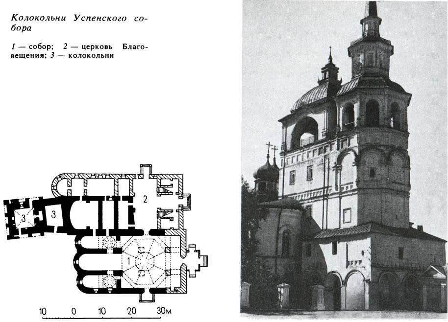 Колокольни Успенского собора