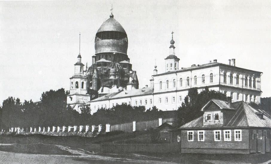 Общий вид Иоанно-Предтеченского монастыря в 1925 г.