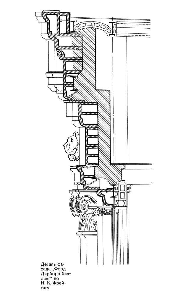 Деталь фасада Форд Дирборн билдинг