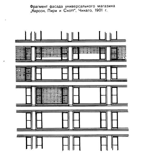 Фрагмент фасада универсального магазина Карсон, Пири и Снотт, Чикаго, 1901 г.