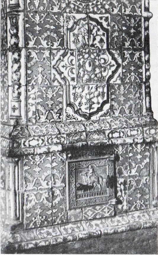 Изразцовая печь в доме Шляпиных
