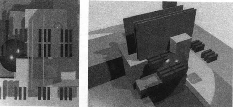 Плоскостная колористическая структура и вариант ее трехмерного выражениея