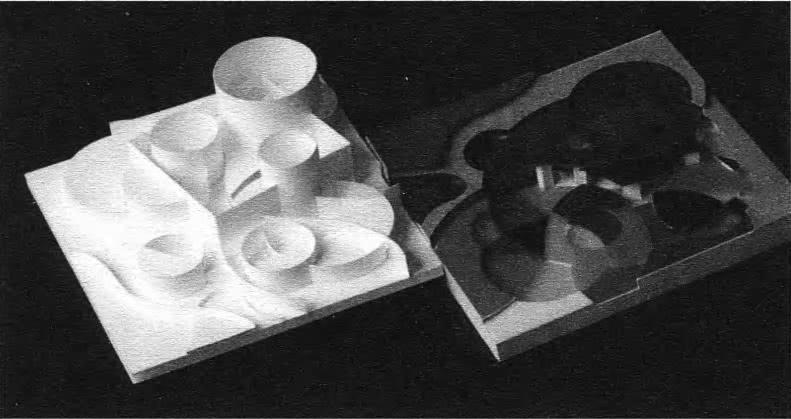 Изменение пластических характеристик объемной формы различной колористической интерпретации