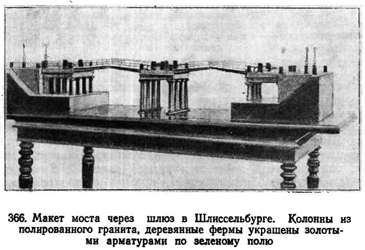 366. Макет моста через шлюз в Шлиссельбурге
