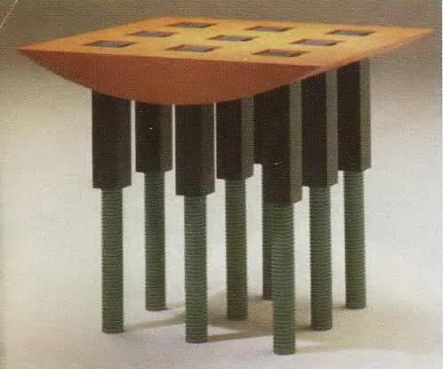 Шигеро Учида, стол «il Tavolo per Aldo», 1989