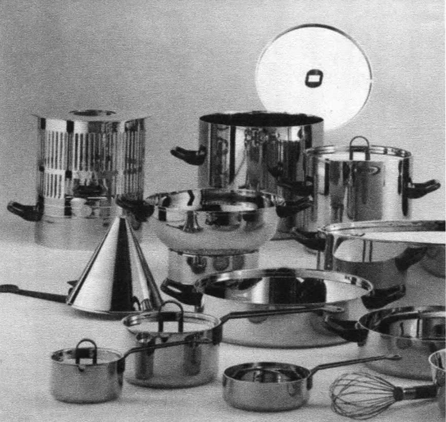 Серия стальной и медной посуды (красивые предметы). Ричард Сеппар, 1986