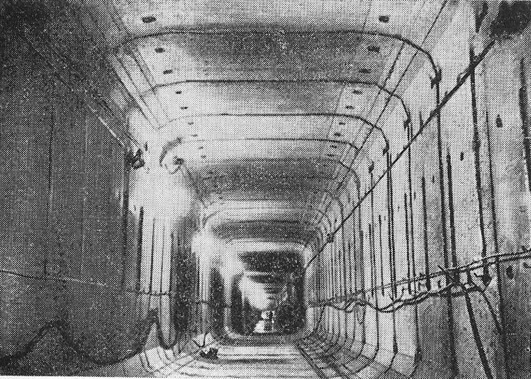 Цельносекционная обделка тоннеля открытого способа работ