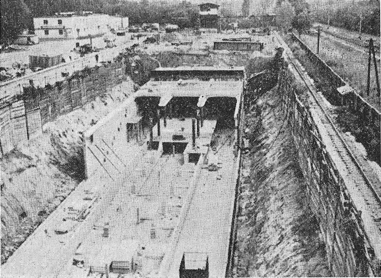 Сооружение станции «Индустриальная» поточным методом