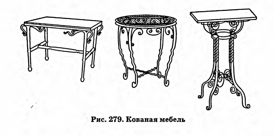 Рис. 278. Кованая мебель