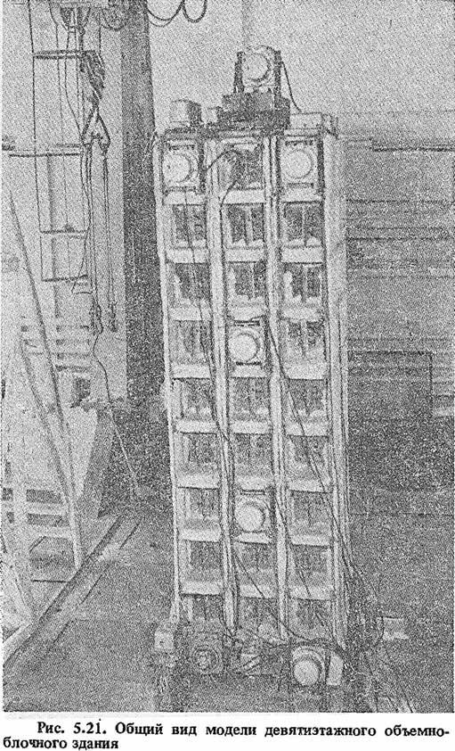Рис. 5.21. Общий вид модели девятиэтажного объемно-блочного здания