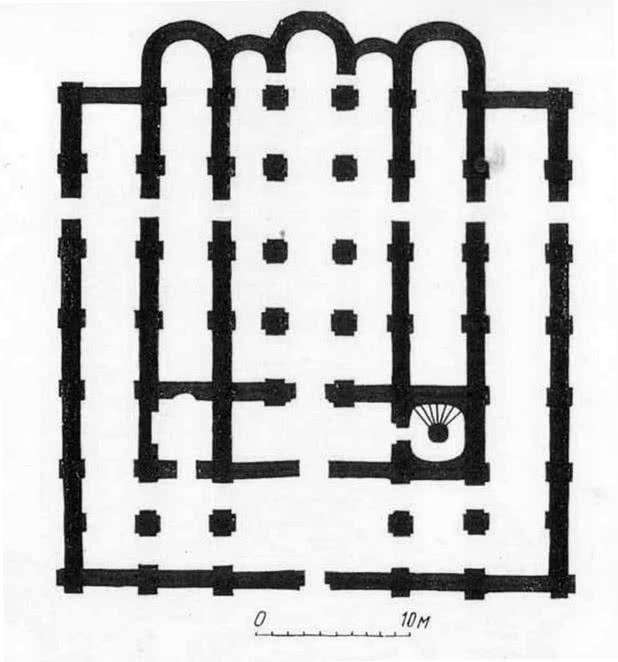 Собор Кловского монастыря. План