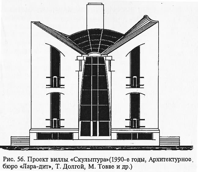 Рис. 56. Проект виллы «Скульптура»