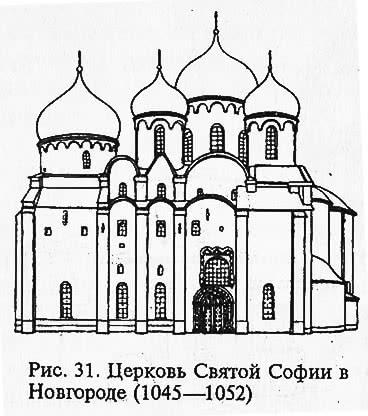 Рис. 31. Церковь Святой Софии в Новгороде