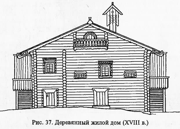 Рис. 37. Деревянный жилой дом