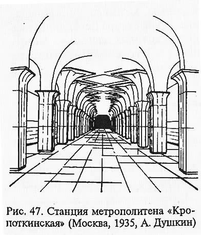 Рис. 47. Станция метрополитена «Кропоткинская»