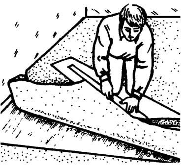 Раскладка покрытия и подготовка мест стыка