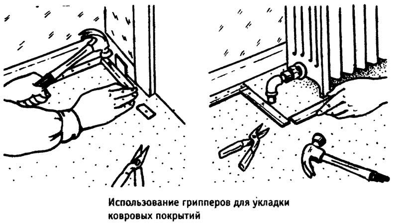 Использование грипперов для укладки ковровых покрытий