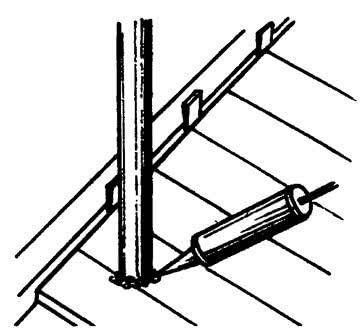 Оформление зазора между трубой и ламинатом