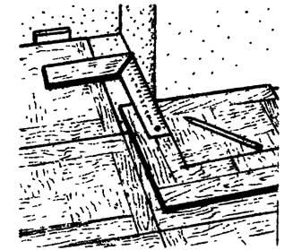Использование столярного угольника и линейки