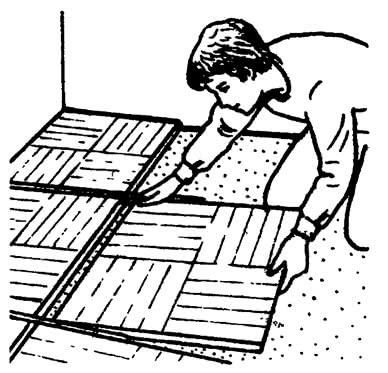 Раскладка щитов «насухо»