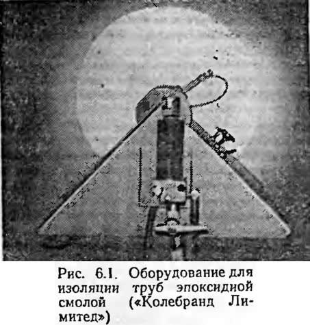 Рис. 6.1. Оборудование для изоляции труб эпоксидной смолой