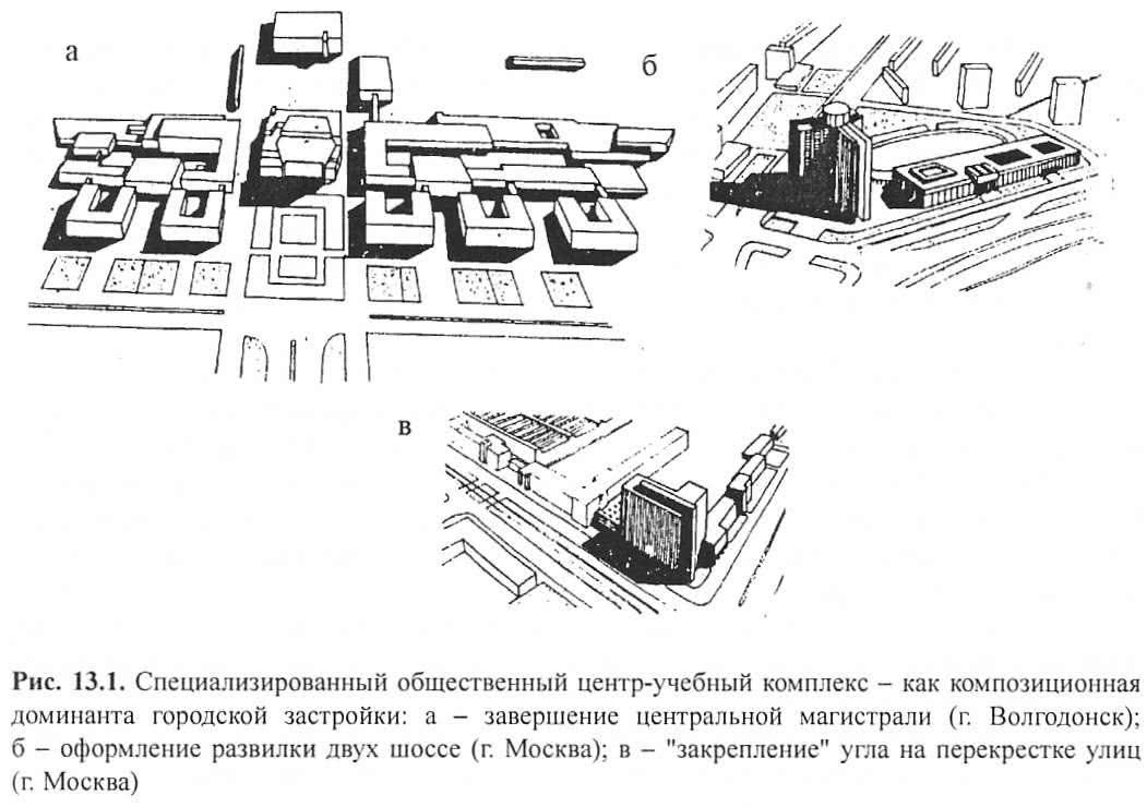 Рис. 13.1. Специализированный общественный центр