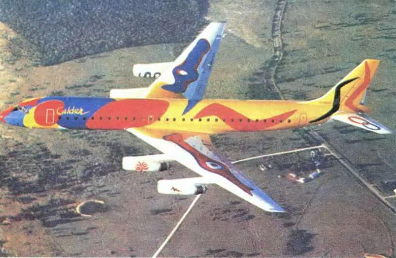 Суперграфический цветовой дизайн авиалайнера как попытка создать оригинальный образ серийной машины