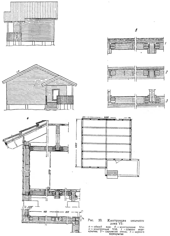 Рис. 33. Конструкция опытного дома VI