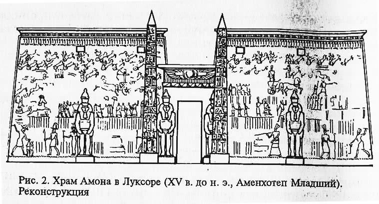 Рис. 2. Храм Амона в Луксоре