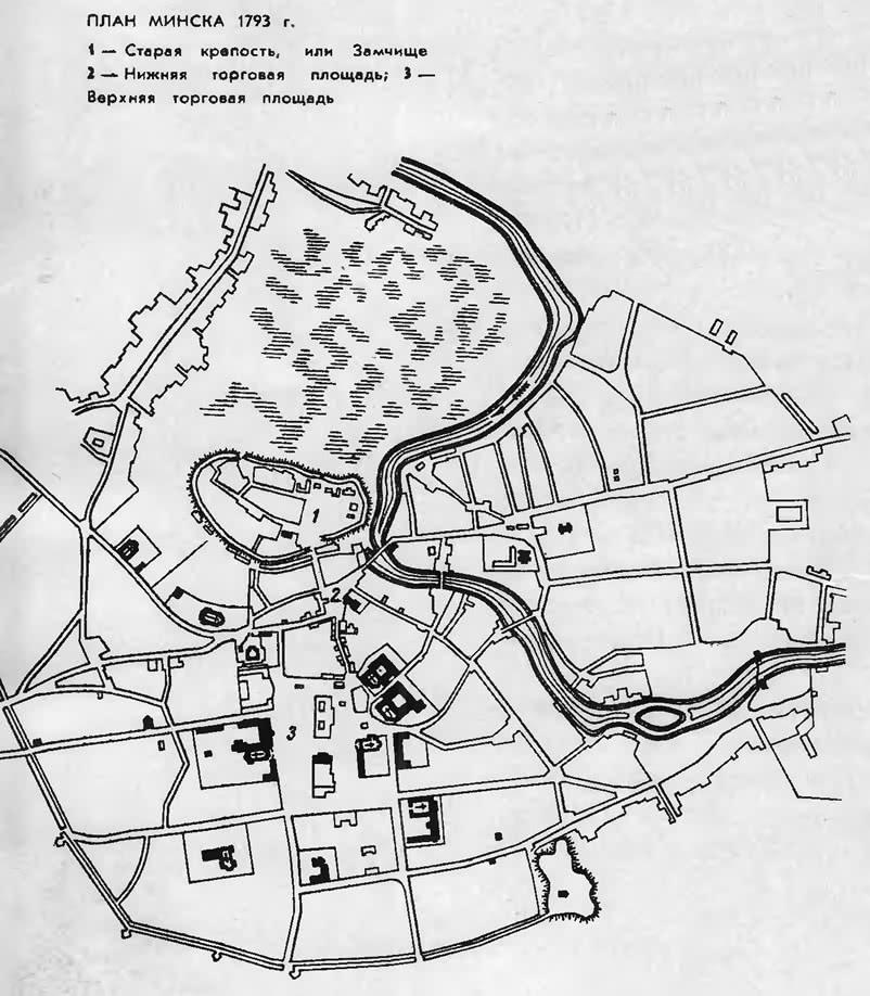План Минска 1793 года