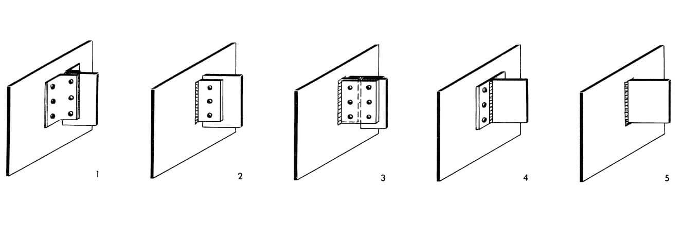 Рисунки 1-5. Приемы креплений балок