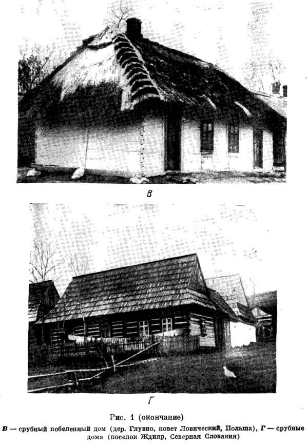 Рис. 1. Типы западнославянского народного жилища (окончание)