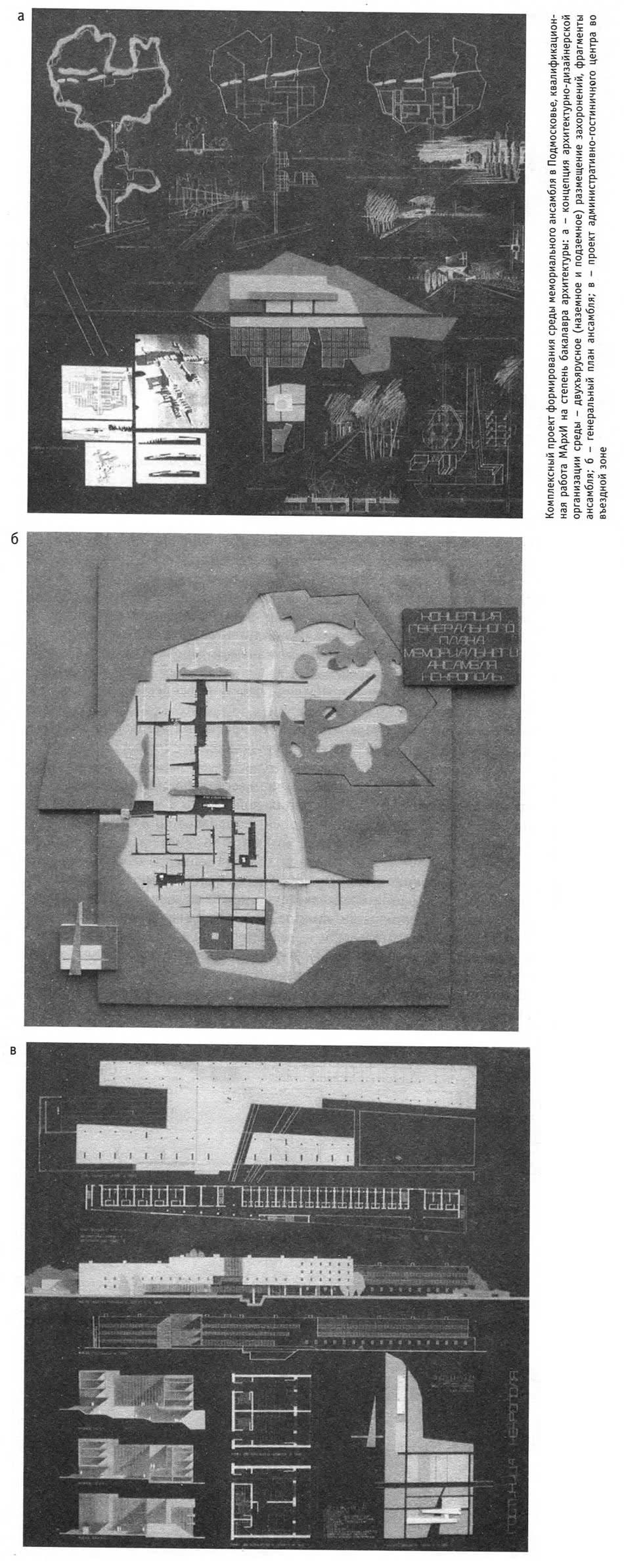 Комплексный проект формирования среды мемориального ансамбля в Подмосковье
