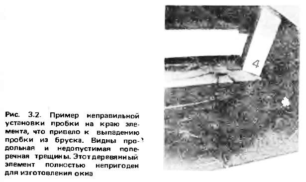 Рис. 3.2. Пример неправильной установки пробки на краю элемента