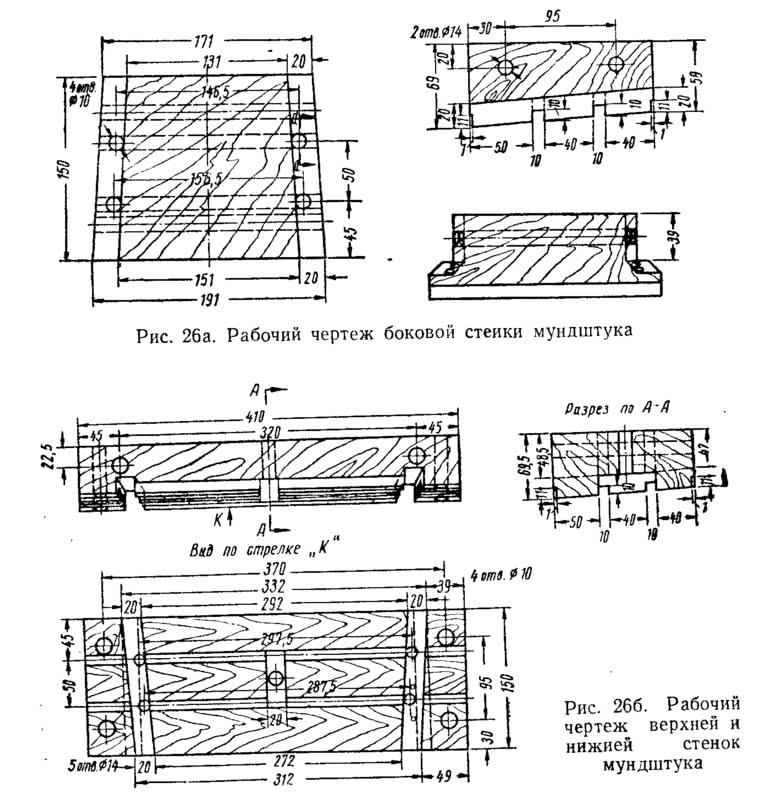 Рис. 26. Рабочий чертеж мундштука