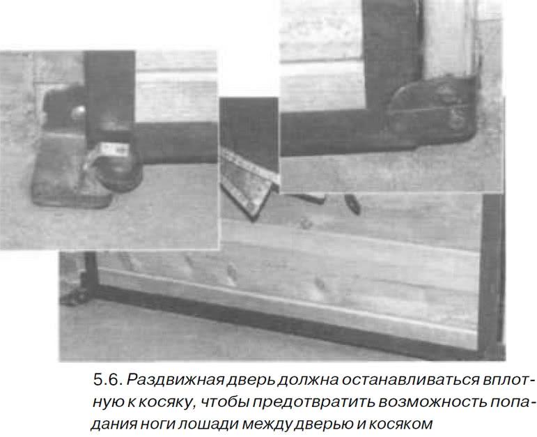 5.6. Раздвижная дверь должна останавливаться вплотную к косяку