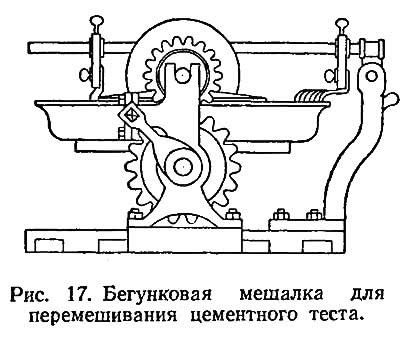 Рис. 17. Бегунковая мешалка для перемешивания цементного теста