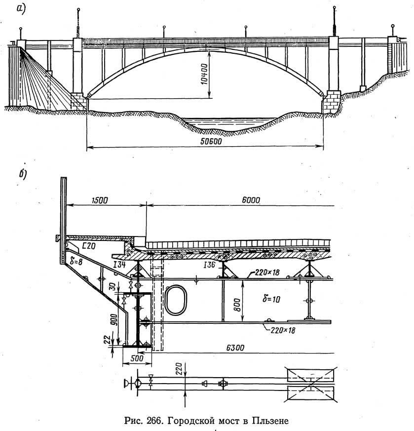 Рис. 266. Городской мост в Пльзене
