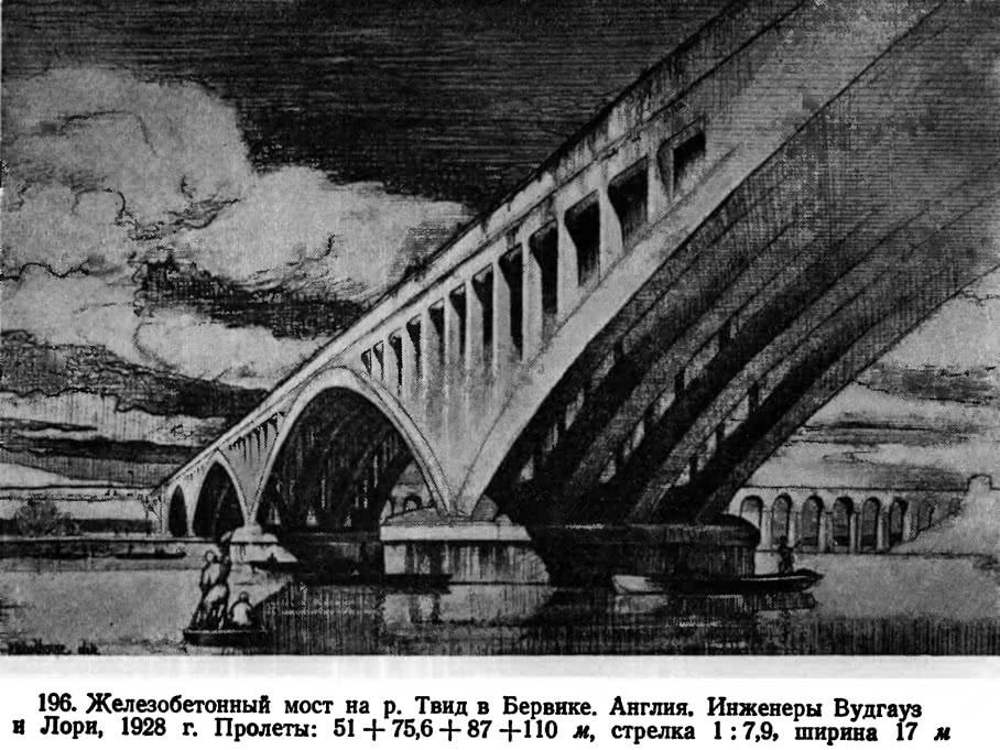 196. Железобетонный мост на р. Твид в Бервике