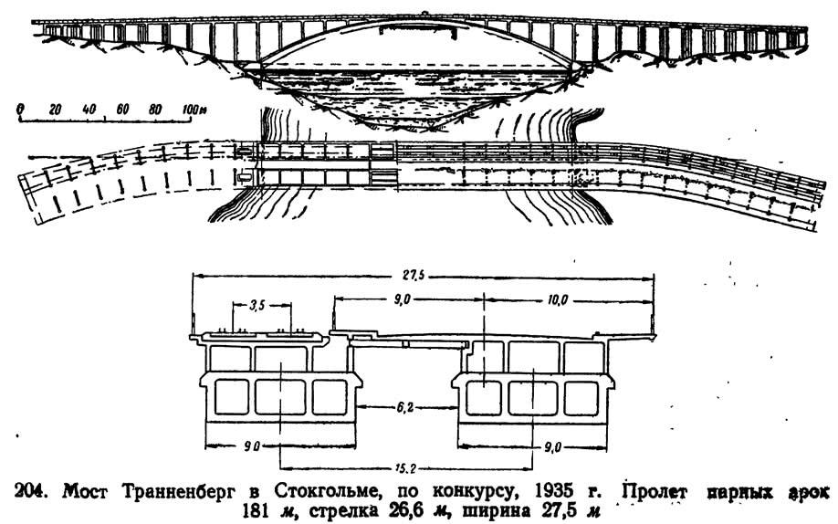 204. Мост Траиненберг в Стокгольме, по конкурсу, 1935 г.