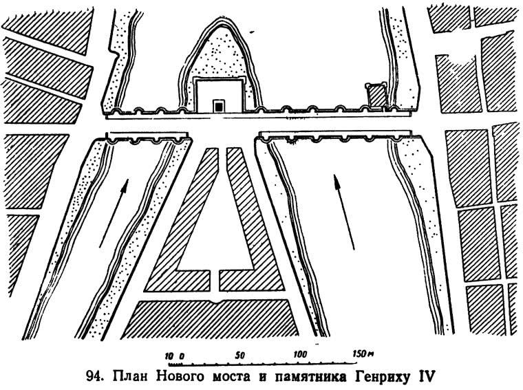 94. План Нового моста и памятника Генриху IV