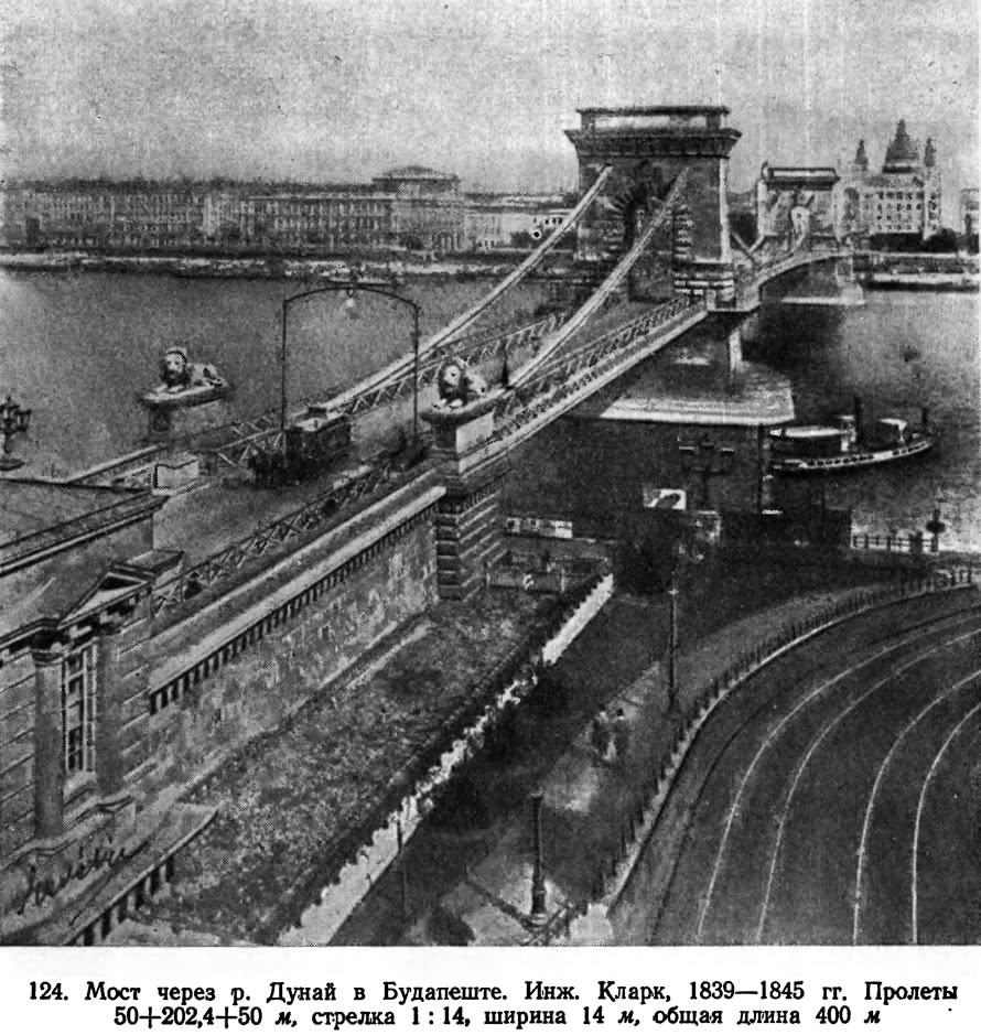 124. Мост через р. Дунай в Будапеште. Инж. Кларк