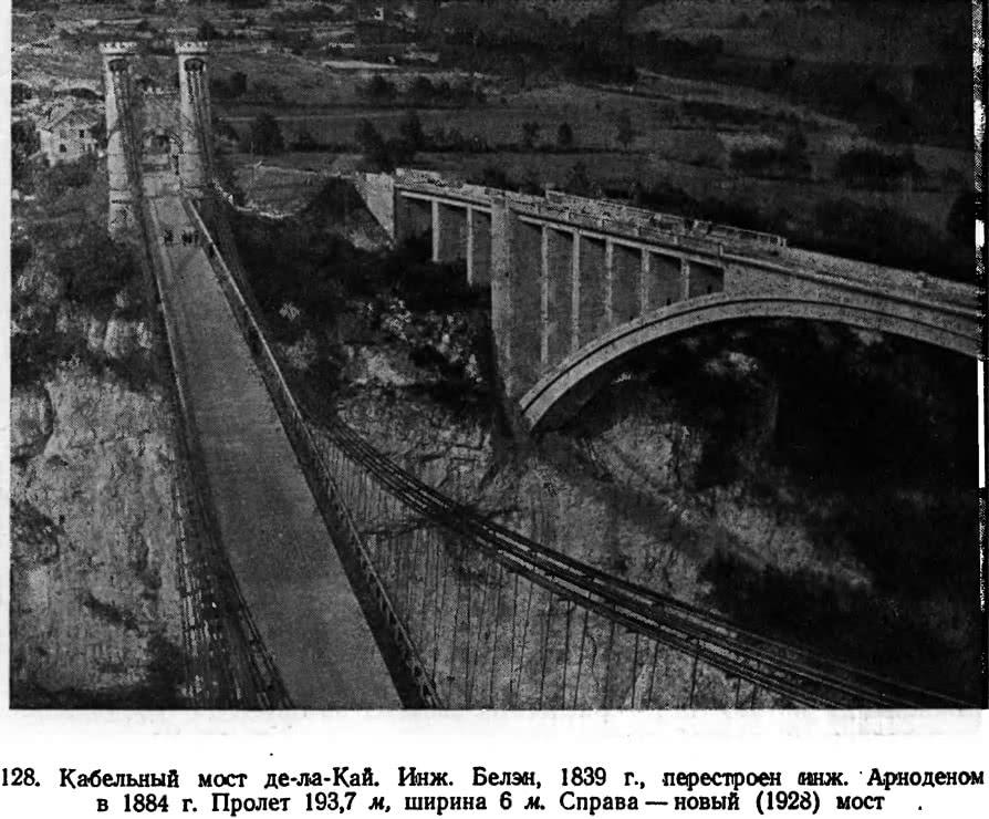 128. Кабельный мост де-ла-Кай. Инж. Белэн